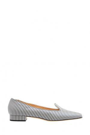 Туфли с отделкой в полоску Bionda Castana. Цвет: multicolor