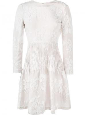 Приталенное расклешенное платье Kiera Huishan Zhang. Цвет: белый
