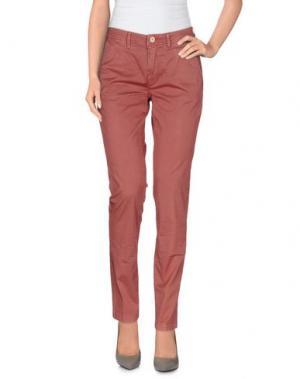 Повседневные брюки SIVIGLIA WHITE. Цвет: пастельно-розовый