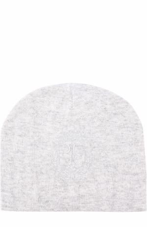 Вязаная шапка с логотипом бренда Billionaire. Цвет: серый