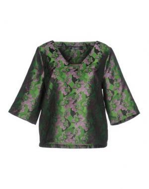 Блузка ANONYME DESIGNERS. Цвет: зеленый