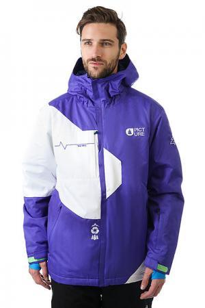 Куртка  Year Purple White Picture Organic. Цвет: фиолетовый,белый