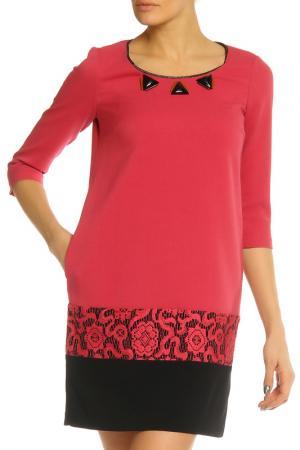 Платье SFIZIO. Цвет: розовый