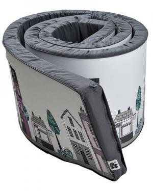 Защитный коврик для кроватки от Sebra. Цвет: светло-серый