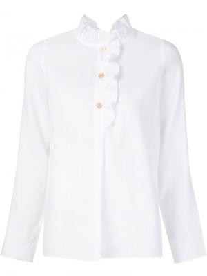 Блузка с рюшами Atlantique Ascoli. Цвет: белый