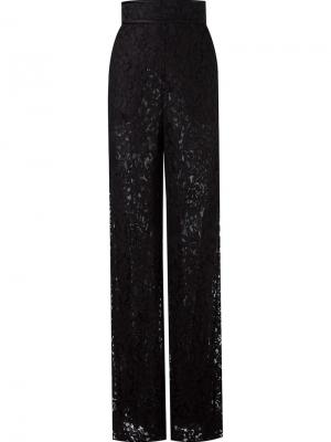 Lace wide leg trousers Martha Medeiros. Цвет: чёрный