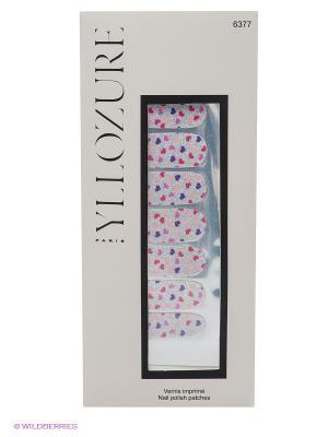 Лаковые стикеры для ногтей, тон  77 YLLOZURE. Цвет: серебристый, фиолетовый, розовый
