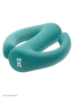 Гантель для фитнеса S-образная NT169S Larsen. Цвет: зеленый