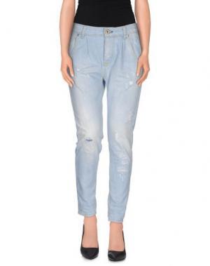 Джинсовые брюки QUEEN of LOVE. Цвет: синий