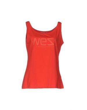 Майка WESC. Цвет: красный