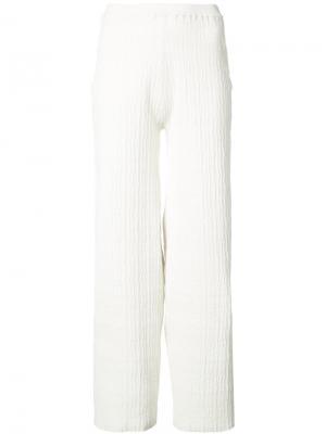 Широкие трикотажные брюки Simon Miller. Цвет: белый
