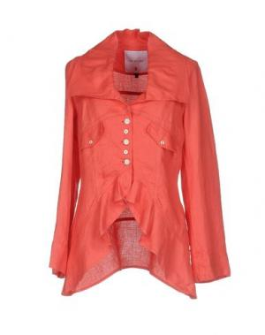 Пиджак TRICOT CHIC. Цвет: коралловый