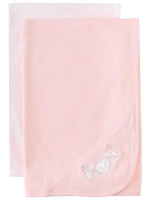 Комплект из 2-х одеял Розовое сердце Little Me. Цвет: розовый