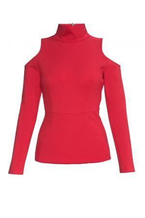 Джемпер из хлопка 177603 Paola Morena. Цвет: красный