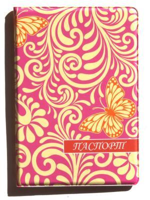 Обложка для паспорта Lola. Цвет: фиолетовый, светло-желтый