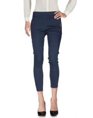 Повседневные брюки LES FILLES. Цвет: синий
