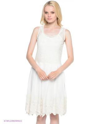 Платье Fullah Sugah. Цвет: молочный