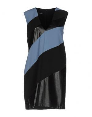 Короткое платье ANNARITA N.. Цвет: грифельно-синий