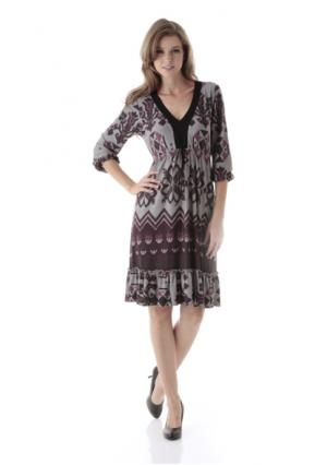 Платье ANISTON. Цвет: серый/с рисунком