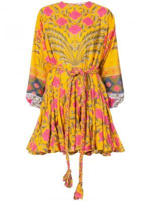 Платье с цветочным рисунком Rhode Resort. Цвет: жёлтый и оранжевый