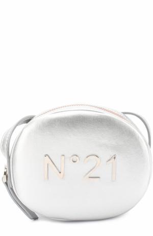Сумка с декором No. 21. Цвет: серебряный