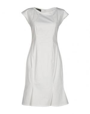 Короткое платье GIO' GUERRERI. Цвет: белый