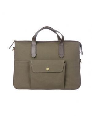 Деловые сумки MISMO. Цвет: зеленый-милитари