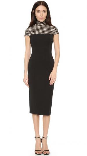 Платье-миди Infanna AQ/AQ. Цвет: черный/телесный