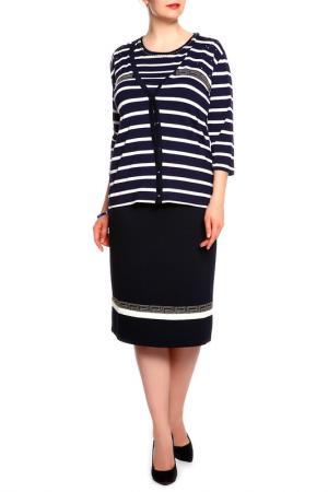 Комплект: блуза, жакет, юбка Elisa Fanti. Цвет: белый