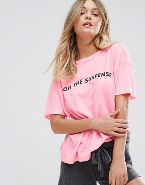 Wildfox Футболка с принтом Oh The Suspense - Розовый 6338313