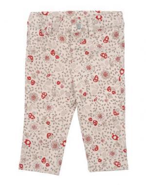 Повседневные брюки MIRTILLO. Цвет: бежевый