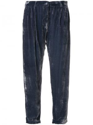 Укороченные брюки Mes Demoiselles. Цвет: синий