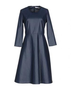 Платье до колена NORMALUISA. Цвет: темно-синий