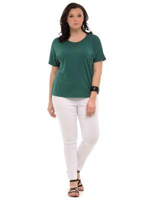 Блузка SVESTA. Цвет: зеленый