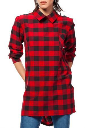 Рубашка BeWear. Цвет: красный