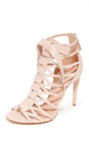 Решетчатые сандалии Casadei. Цвет: оранжевый