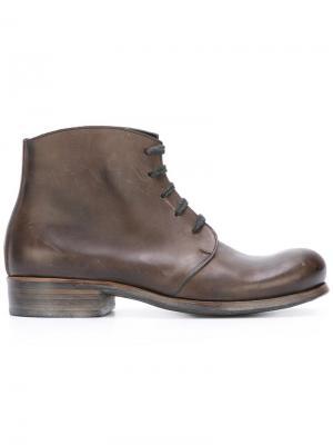 Ботинки на шнуровке Dimissianos & Miller. Цвет: коричневый
