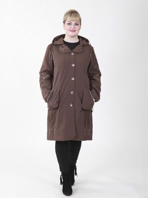 Пальто Одри VIKO. Цвет: светло-коричневый