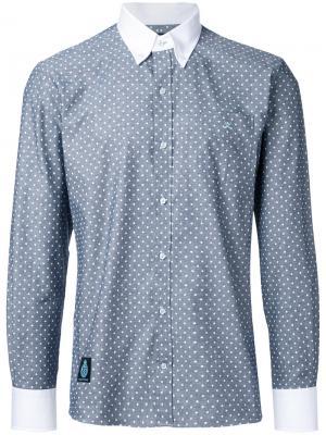 Рубашка с принтом в горох Guild Prime. Цвет: серый