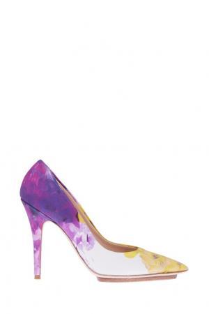 Туфли с принтом Blugirl. Цвет: фиолетовый