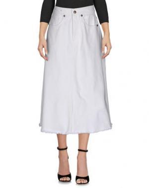 Джинсовая юбка COVERT. Цвет: белый