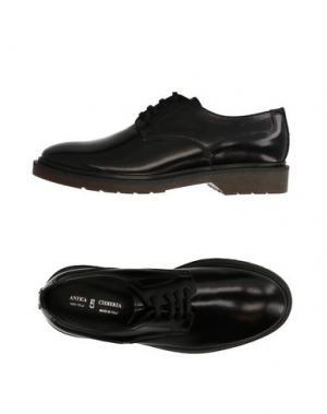 Обувь на шнурках ANTICA CUOIERIA. Цвет: черный