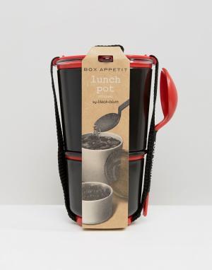 Black & Blum Контейнер для ланча. Цвет: черный