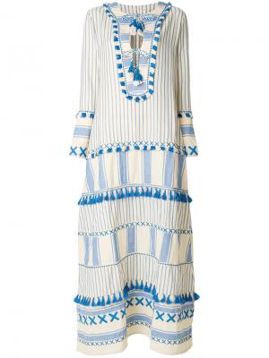 Длинное платье с кисточками Dodo Bar Or. Цвет: телесный