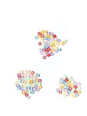 Кубики для поделок Bizon. Цвет: желтый
