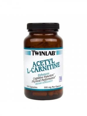 Карнитин Acetyl L-Carnitine  500 mg (120 с) Twinlab. Цвет: черный