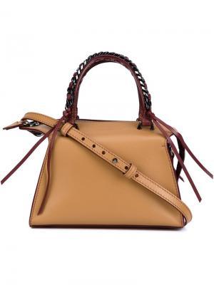 Мини сумка-тоут Gabria Elena Ghisellini. Цвет: телесный