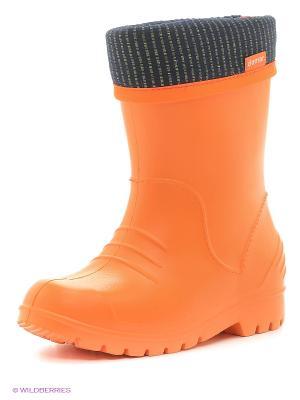 Резиновые сапоги DEMAR. Цвет: оранжевый