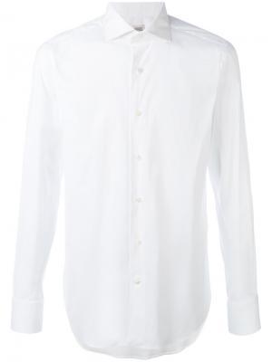 Классическая узкая рубашка Alessandro Gherardi. Цвет: белый