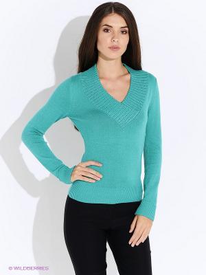 Пуловер Oodji. Цвет: бирюзовый